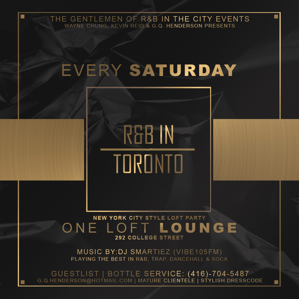 R&B IN TORONTO SATURDAYS PROMO CD